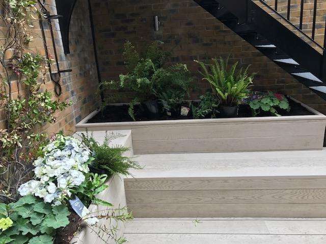 Composite seating and raised beds, Clapham