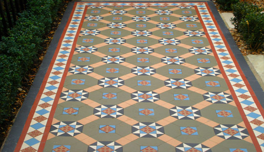 Encaustic tiled path
