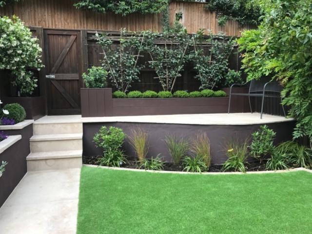 Wimbledon garden newly completed